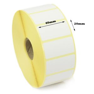 40mm x 20mm Self Adhesive Direct Thermal Blank Labels -700/Roll