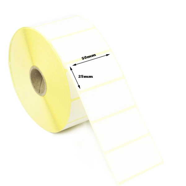 50mm x 25mm Direct thermal labels roll