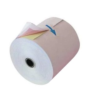 76mm x 70mm 3ply Carbonless Paper Roll, 50 Rolls/Carton
