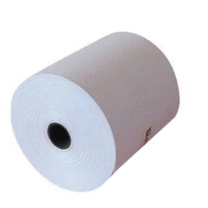76mm x 70mm Single Ply Bond Paper Rolls, 50 Rolls/Carton
