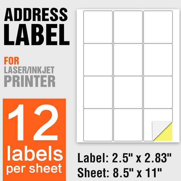 A4 Size Self Adhesive Shipping Address Labels 12 Per Sheet