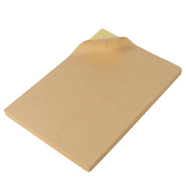 A4 sheets blank self adhesive kraft paper label sticker