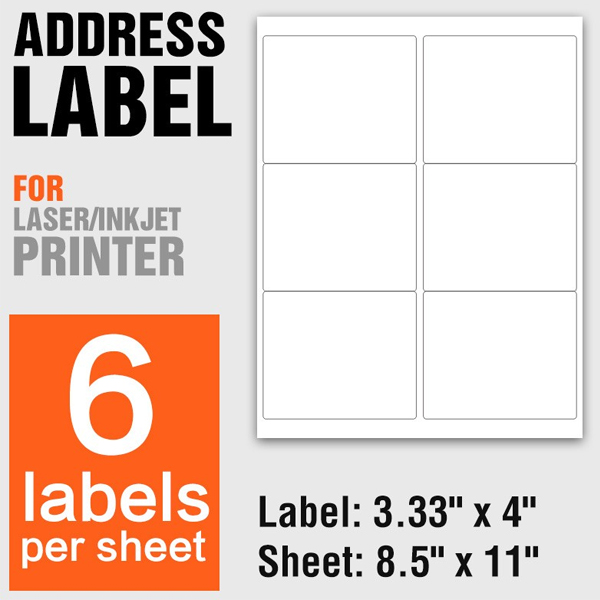 a4 size adhesive shipping address label