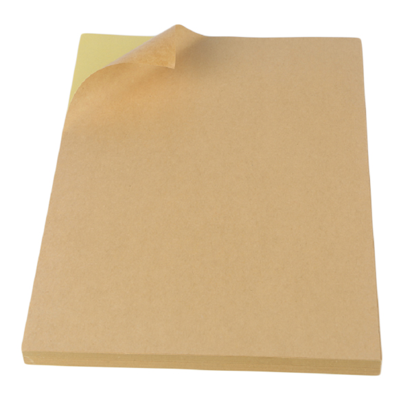 A4 Kraft Paper Shipping Labels Blank Adhesive Label