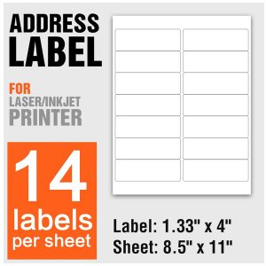 A4 Logistic and Distribution Barcode Sticker Labels for Laser & Inkjet Printers 14 Per Sheet – 100 Sheets/Pack