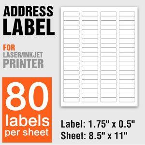 A4 Size Self Adhesive Carton Shipping Address Labels 80 Per Sheet – 100 Sheets/Pack