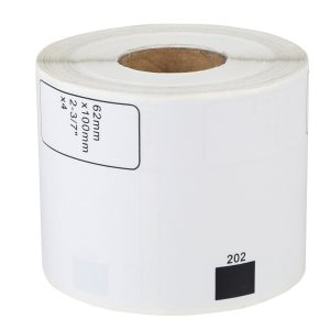 62mm x 100mm – Thermal Paper Brother Compatible Labels DK-11202/DK-1202 – 300 Labels/Roll