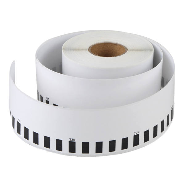 Thermal roll label with labels compatible Brother DK-22225