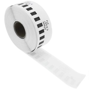 12mm x 30.48m – Continuous White Paper Label Roll  For Compatible For Brother DK-22214