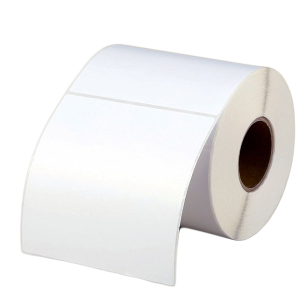 100mm x 100mm - Blank Gross White Adhesive Barcode Printer Labels Roll 500pcs