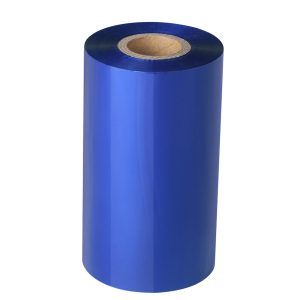 50mm x 300m – Blank Blue Wax Resin Thermal Transfer FoilBarcode Color Ribbon – 25mm