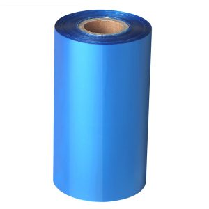 80mm x 300m – 25mm Core Blank SKy Blue Wax Thermal Transfer Barcode Color Ribbon