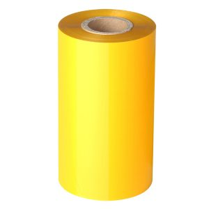 50mm x 300m – Blank Yellow Resin Thermal Transfer Foil Barcode Color Ribbon – 25mm