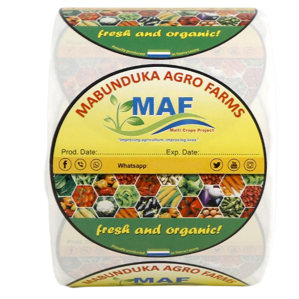 Adhesive Waterproof Frozen Food Label Stickers