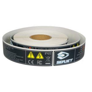 Self Adhesive Waterproof Lithium Caution Battery Warning Labels